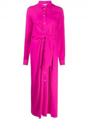 Платье-рубашка с завязками на талии P.A.R.O.S.H.. Цвет: розовый