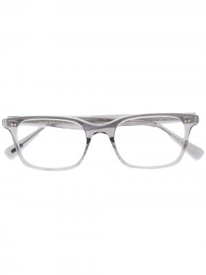 Очки Nisen в прямоугольной оправе Oliver Peoples. Цвет: серый