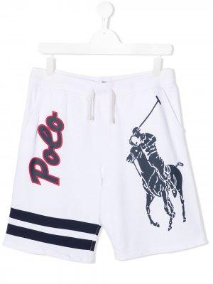 Шорты с логотипом Ralph Lauren Kids. Цвет: белый