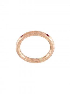 Кольцо с рубином Alice Waese. Цвет: золотистый