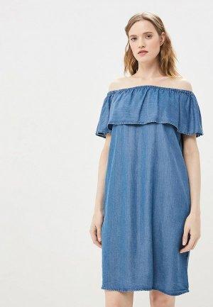 Платье джинсовое Baon. Цвет: синий