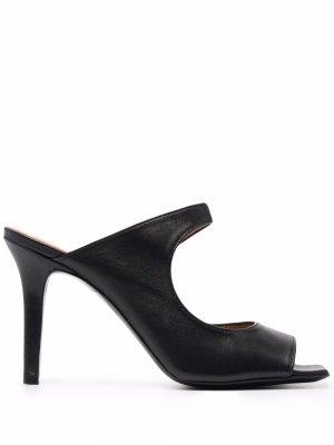 Мюли с открытым носком Via Roma 15. Цвет: черный