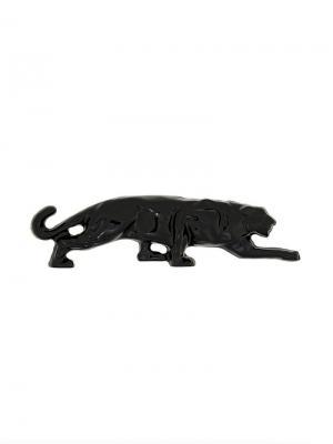 Брошь в форме гепарда Krizia Vintage. Цвет: черный