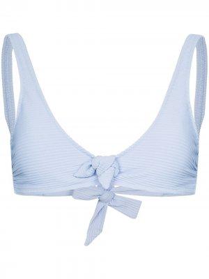 Лиф бикини Sardinia с завязками спереди Heidi Klein. Цвет: синий