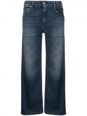 Укороченные джинсы широкого кроя Dondup. Цвет: синий