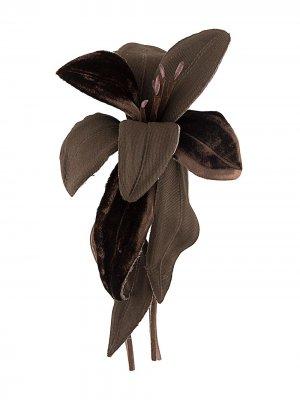 Брошь в виде цветка P.A.R.O.S.H.. Цвет: коричневый