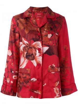 Пижамная блузка с цветочным принтом F.R.S For Restless Sleepers. Цвет: красный