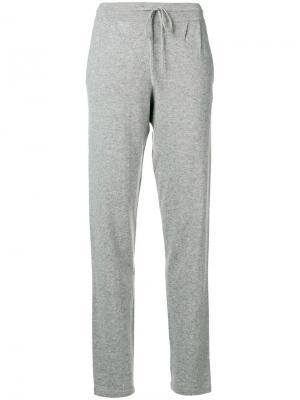 Drawstring trousers Iris Von Arnim. Цвет: серый