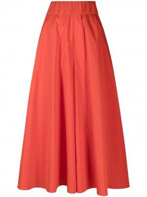 Укороченные брюки широкого кроя Aspesi. Цвет: красный