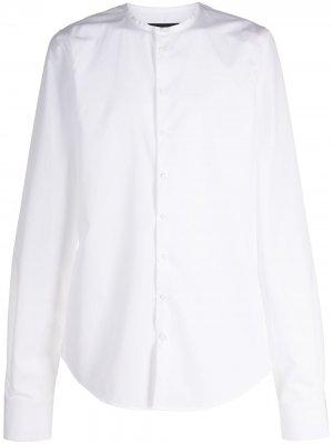 Рубашка без воротника с длинными рукавами Dsquared2. Цвет: белый