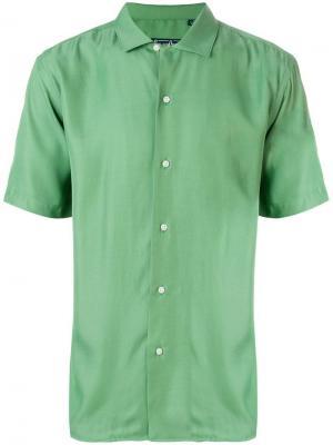 Однотонная рубашка Camp Gitman Vintage. Цвет: зеленый