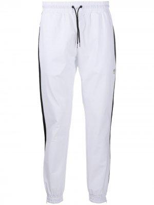 Спортивные брюки с лампасами Hydrogen. Цвет: белый