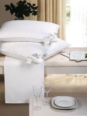 Подушка натур. шёлк в сатин. чехле, 70х70, мягкая Asabella. Цвет: белый