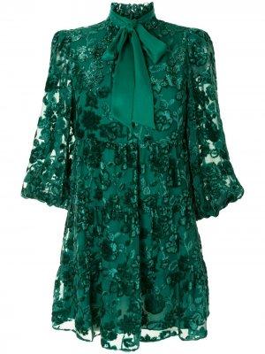 Платье мини Octavia Alice+Olivia. Цвет: зеленый