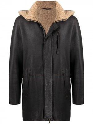 Куртка с овчиной Liska. Цвет: коричневый