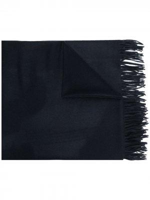 Кашемировая шаль N.Peal. Цвет: синий