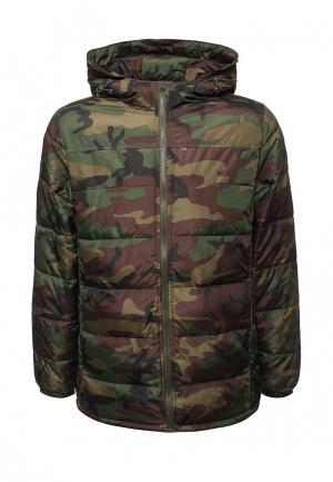 Куртка утепленная Vans. Цвет: хаки
