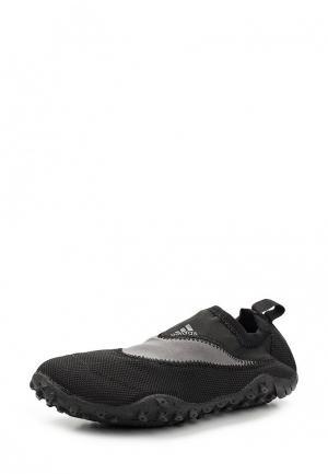 Слипоны adidas. Цвет: черный