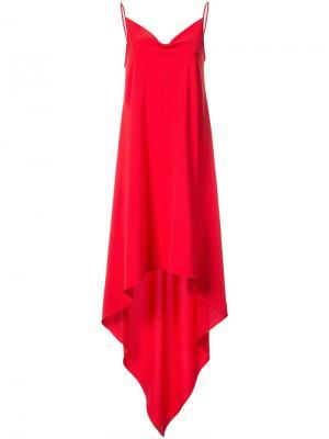 Платье с удлиненной спинкой Gareth Pugh. Цвет: красный