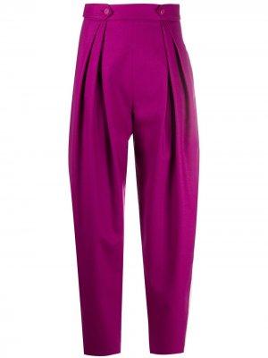 Зауженные брюки Alberta Ferretti. Цвет: розовый