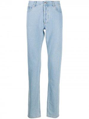 Прямые джинсы с завышенной талией A.P.C.. Цвет: синий