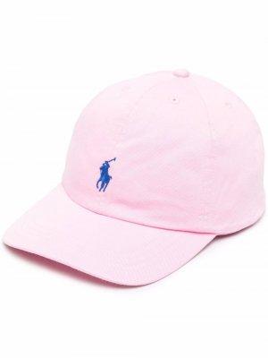 Бейсболка с вышивкой Pony Polo Ralph Lauren. Цвет: розовый