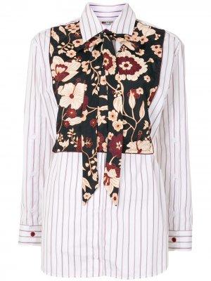 Рубашка с цветочным принтом и длинными рукавами Ports 1961. Цвет: белый