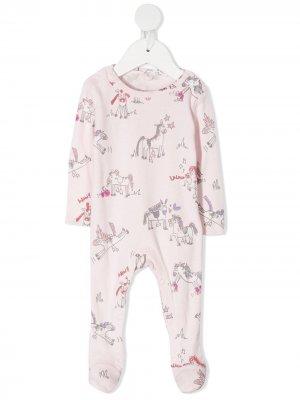 Пижама с принтом Stella McCartney Kids. Цвет: розовый