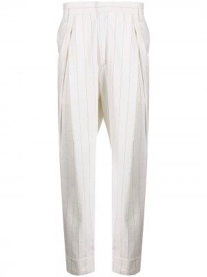 Укороченные брюки со складками Ann Demeulemeester. Цвет: нейтральные цвета