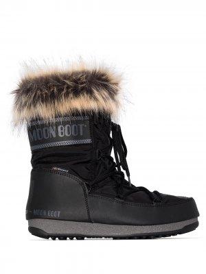 Дутые ботинки Monaco Moon Boot. Цвет: черный