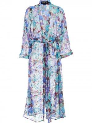 Пляжный халат с принтом PatBO. Цвет: фиолетовый