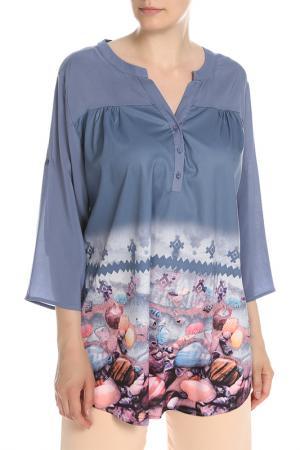 Блуза NATUREL. Цвет: мультицвет