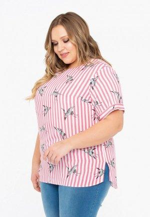 Блуза Intikoma. Цвет: розовый