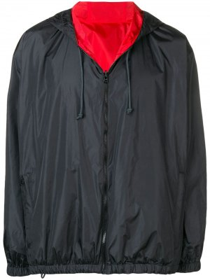 Двусторонняя куртка-ветровка Bottega Veneta. Цвет: черный