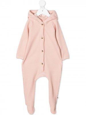 Фактурная пижама с капюшоном Molo. Цвет: розовый