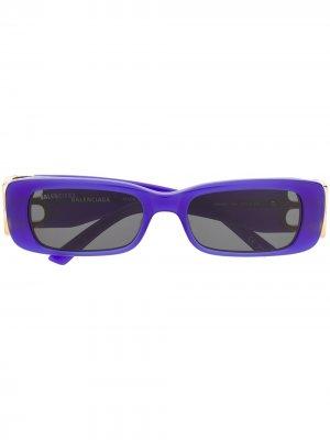 Солнцезащитные очки в прямоугольной оправе Balenciaga Eyewear. Цвет: синий