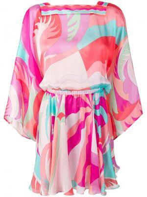 Пляжное платье с драпировкой Emilio Pucci. Цвет: розовый