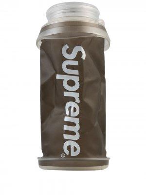 Бутылка для воды Hydrapak Stash 1 л Supreme. Цвет: черный