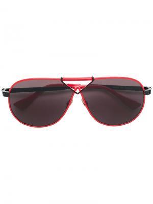 Aviator frames sunglasses Altuzarra. Цвет: красный