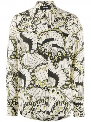 Рубашка с принтом Rochas. Цвет: нейтральные цвета
