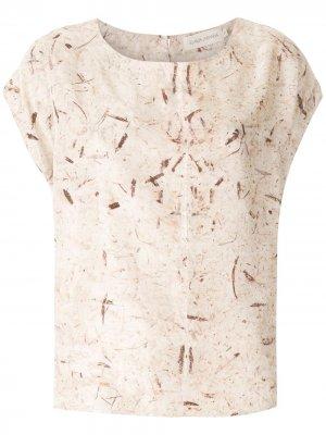Блузка Betânia FLAVIA ARANHA. Цвет: коричневый