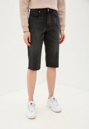 Шорты джинсовые Selected Femme. Цвет: черный