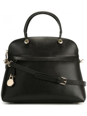 Средняя сумка-тоут Piper Furla. Цвет: чёрный