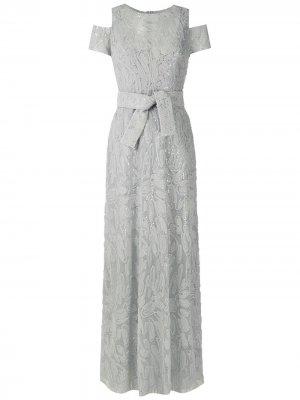 Вечернее платье макси Gloria Coelho. Цвет: серый