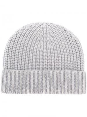 Rib knit beanie Iris Von Arnim. Цвет: серый
