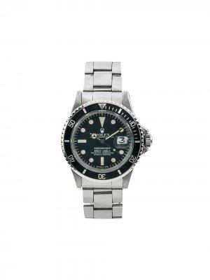 Наручные часы Submariner 40 мм 1970-х годов Rolex. Цвет: черный