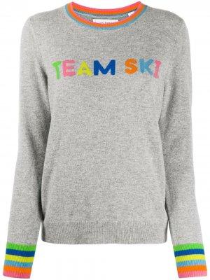 Джемпер с надписью Team Ski Chinti and Parker. Цвет: серый
