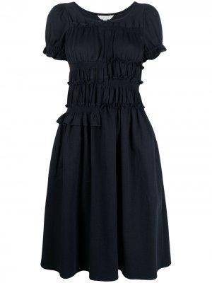 Платье с короткими рукавами и оборками Neul. Цвет: синий