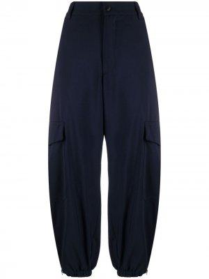 Укороченные брюки с завышенной талией Barena. Цвет: синий