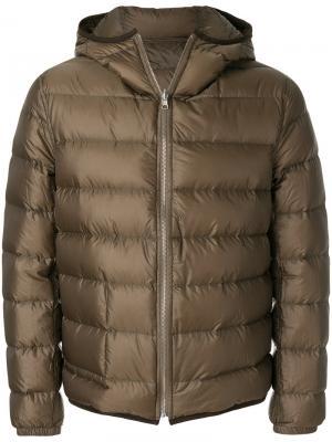 Классическая куртка-пуховик Ten C. Цвет: зеленый